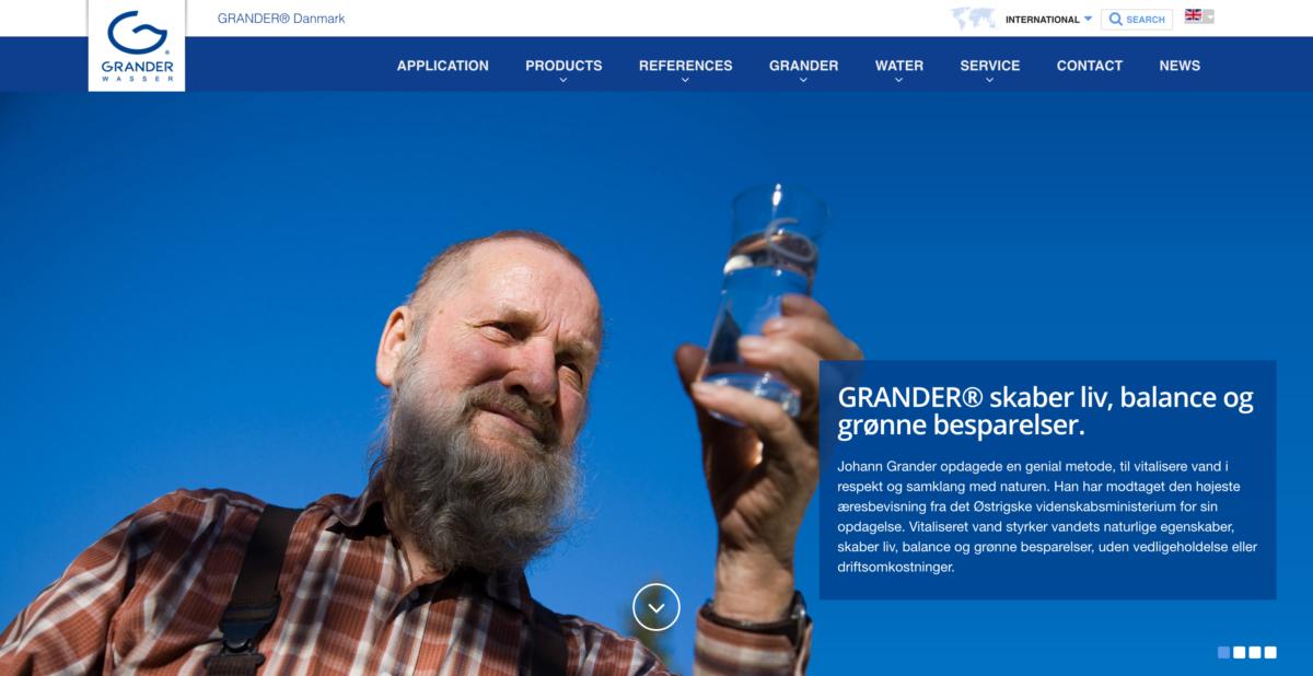 Læs mere på den officielle danske Grander hjemmeside
